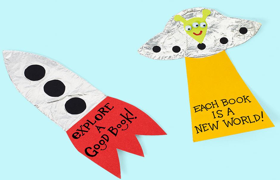 Spaceship Bookmarks