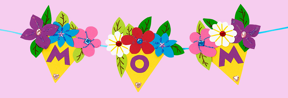 Bouquet Banner for Mom