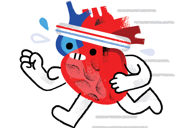 How does the heart pump blood?